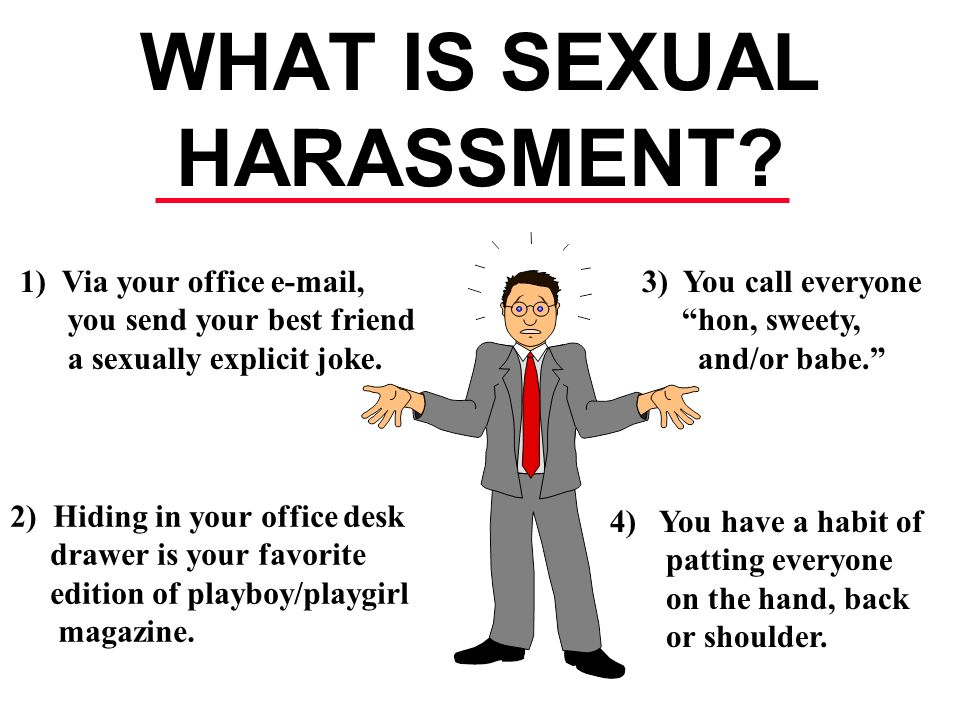 Jokes about sexual harassment in the workplace