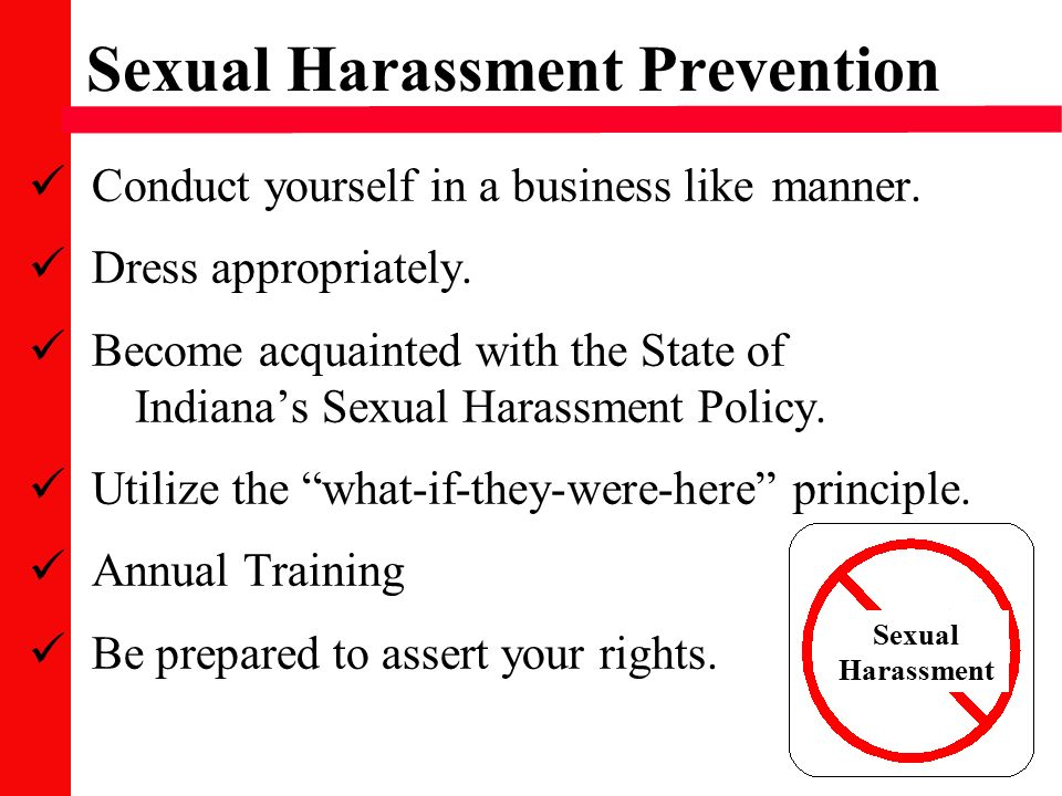 Define sexual harassment state of indiana