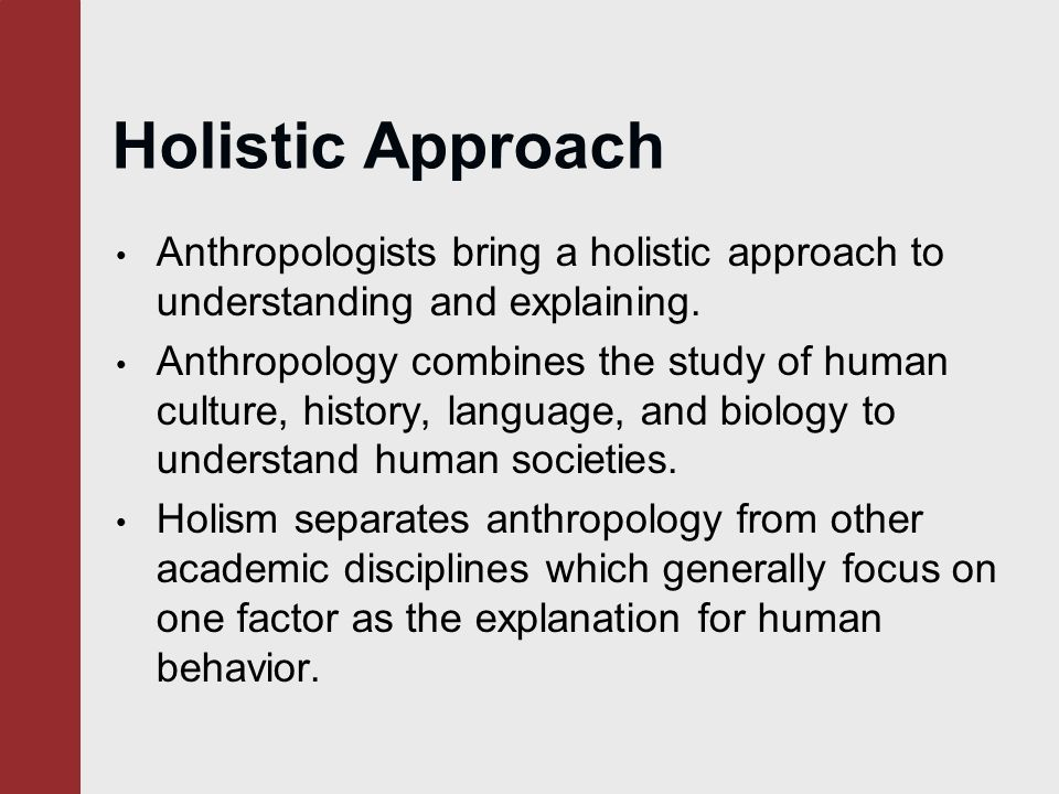 why is anthropology holistic