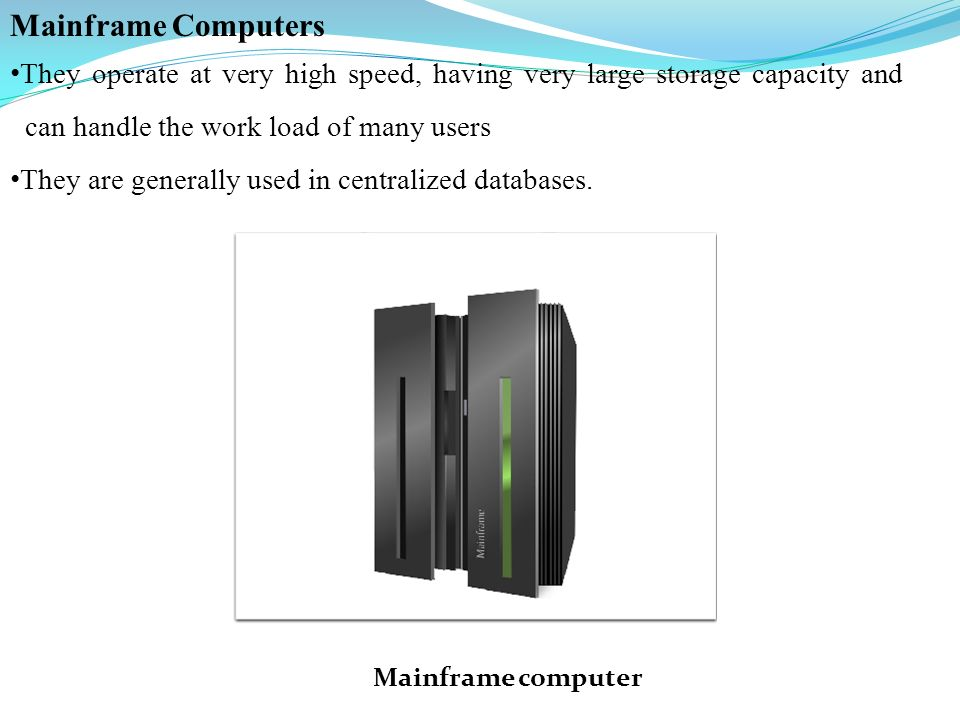 28 Mainframe Computers