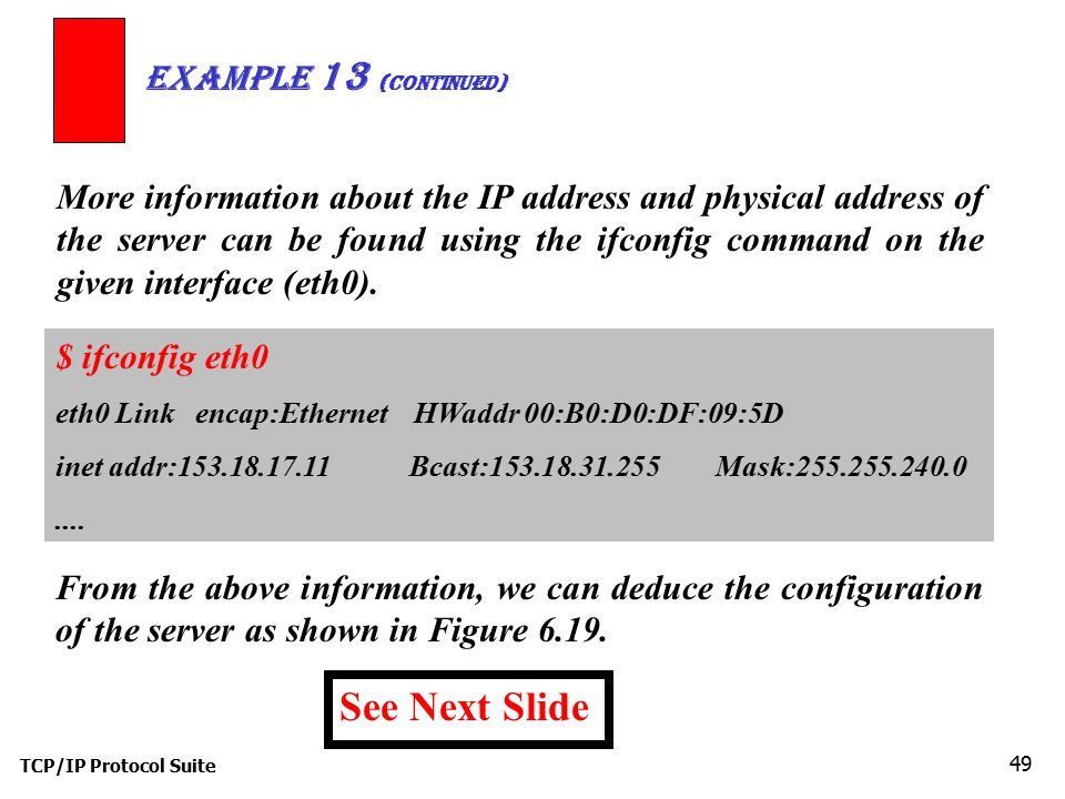 See Next Slide Example 13 (continued)