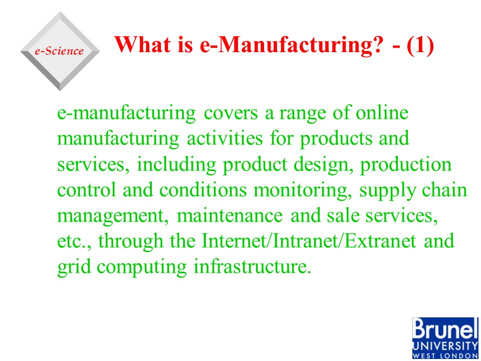 What is e-Manufacturing - (1)