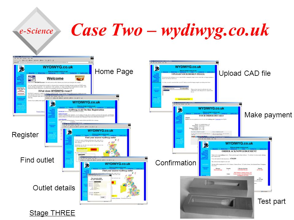 Case Two – wydiwyg.co.uk e-Science Home Page Upload CAD file