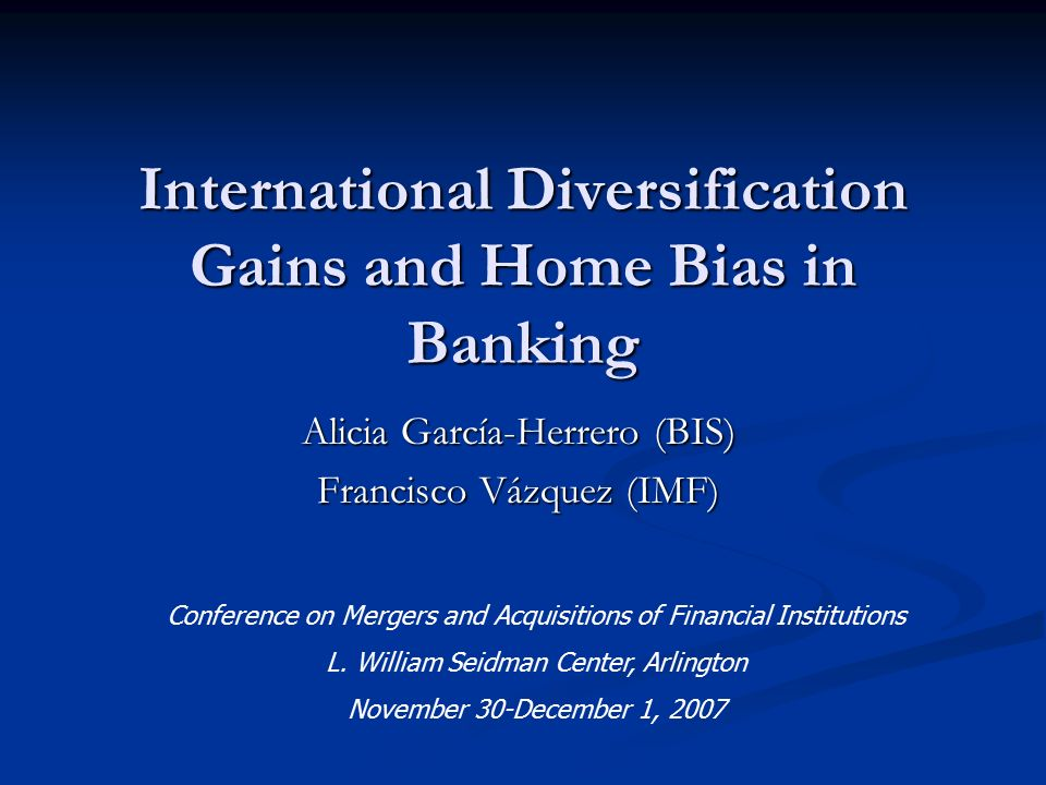 assessing risks with international diversification Translation and definition diversification of risks, dictionary english-english online the consolidated solvency capital requirement for a group should take into account the global diversification of risks that exist across all the insurance and reinsurance undertakings in that group.