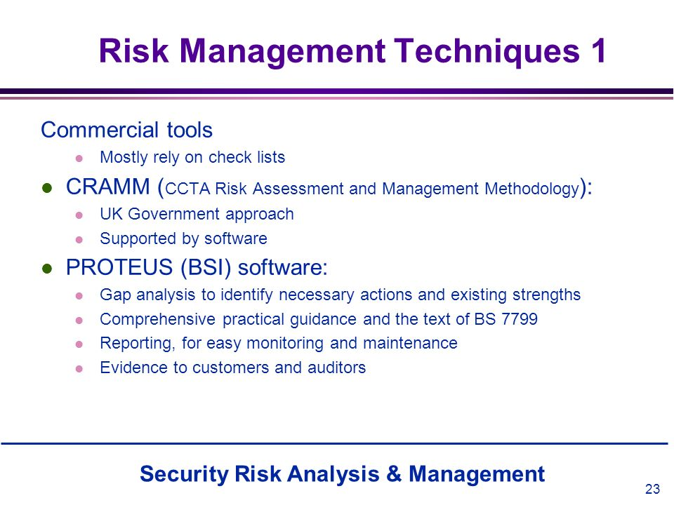 Risk Management Techniques 1