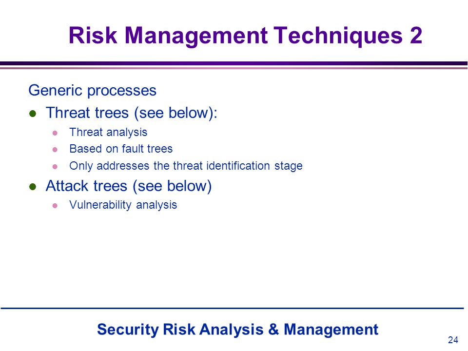 Risk Management Techniques 2