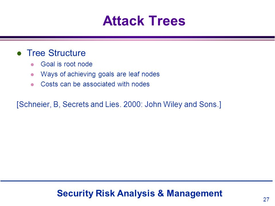Attack Trees Tree Structure