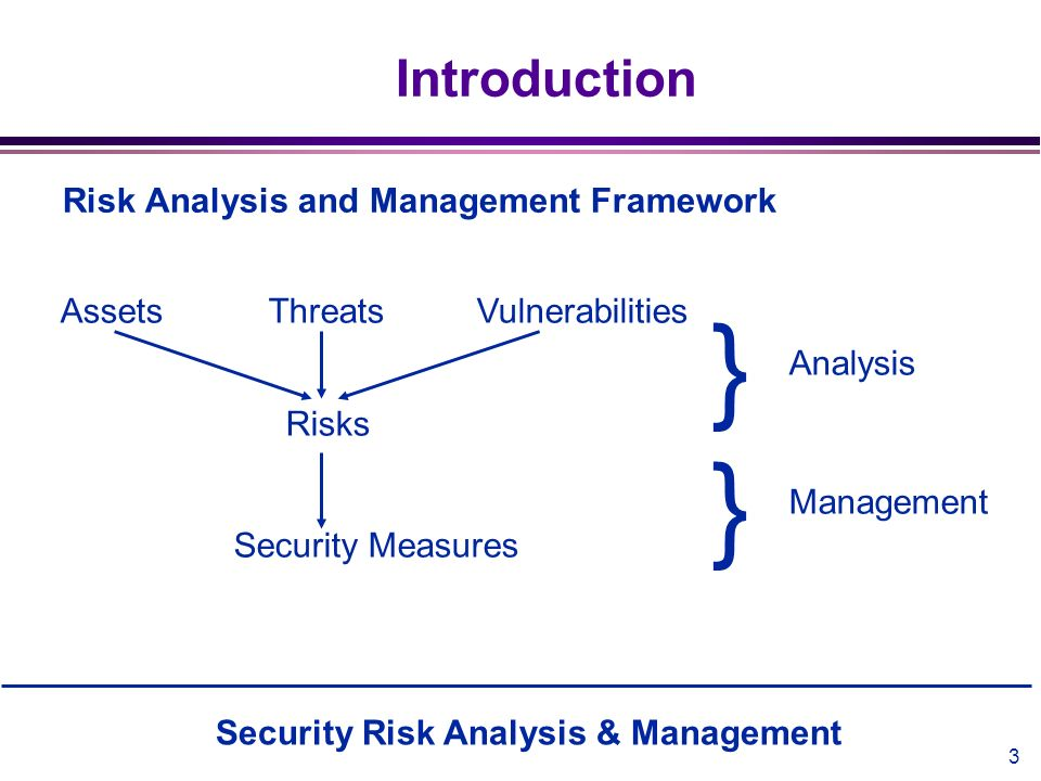 } } Introduction Risk Analysis and Management Framework
