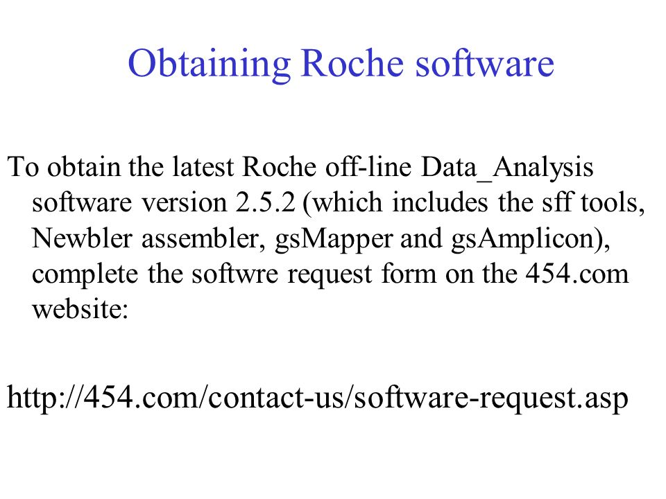 Obtaining Roche software