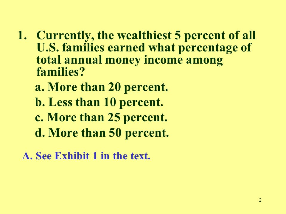Currently, the wealthiest 5 percent of all U. S