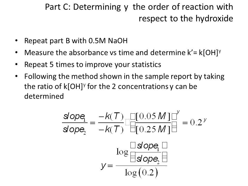rate determination and activation energy lab vernier