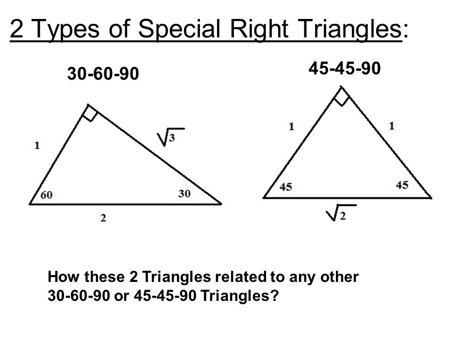 82 Special Right Triangles Ppt Video Online Download. 2 Types Of Special Right Triangles. Worksheet. Special Right Triangles Worksheet Form K At Clickcart.co