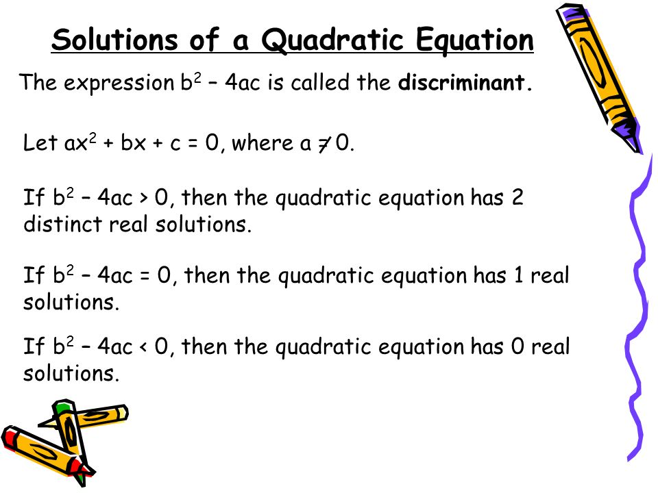 Solutions of a Quadratic Equation
