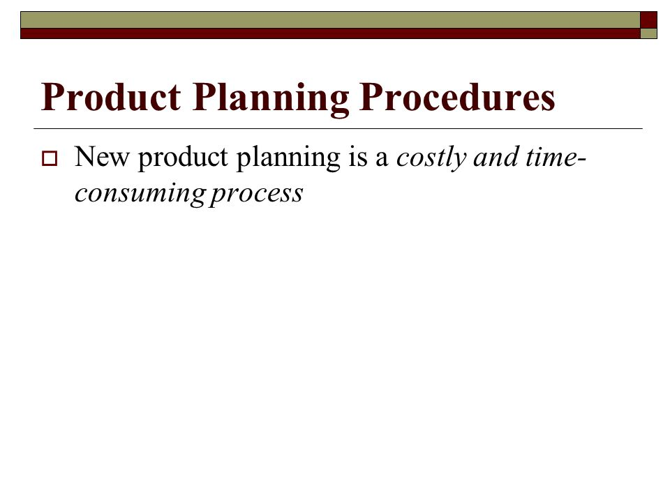 Product Planning Procedures