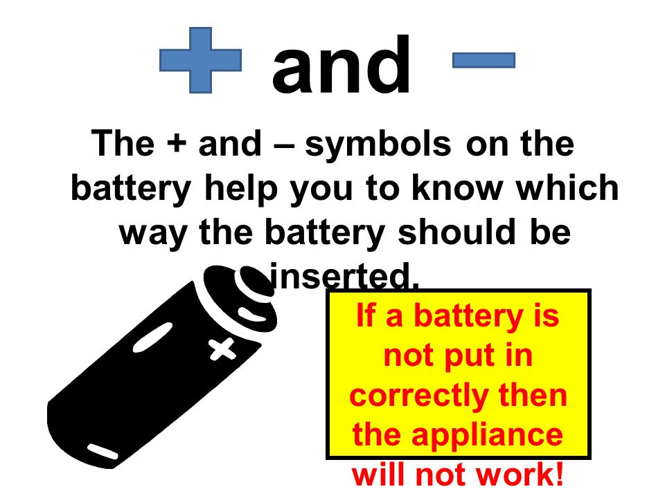 If a battery is not put in correctly then the appliance will not work!