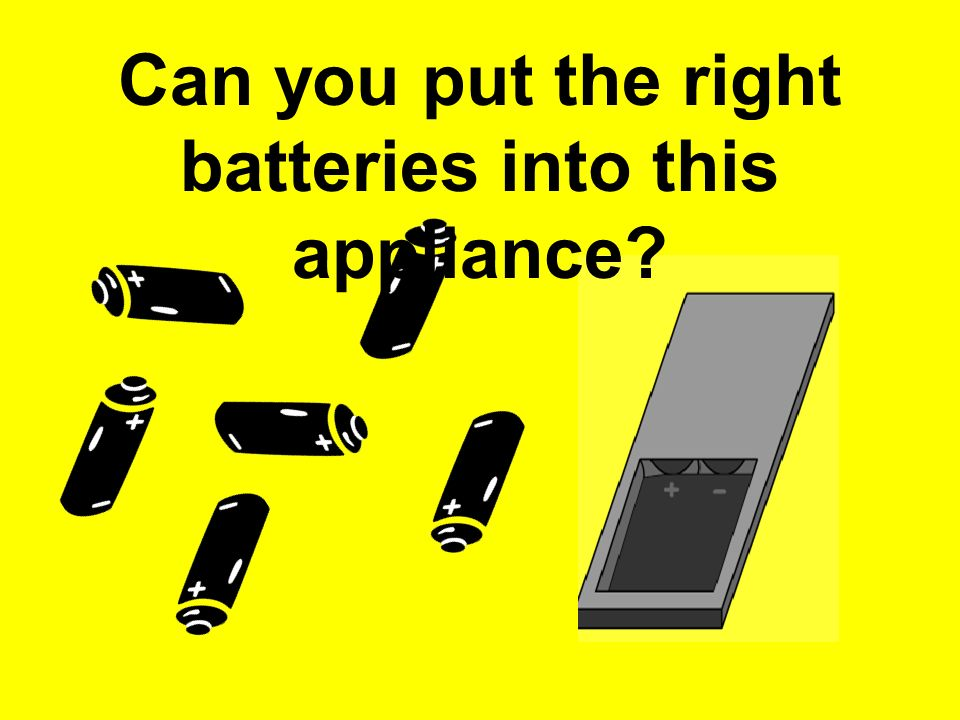 Can you put the right batteries into this appliance