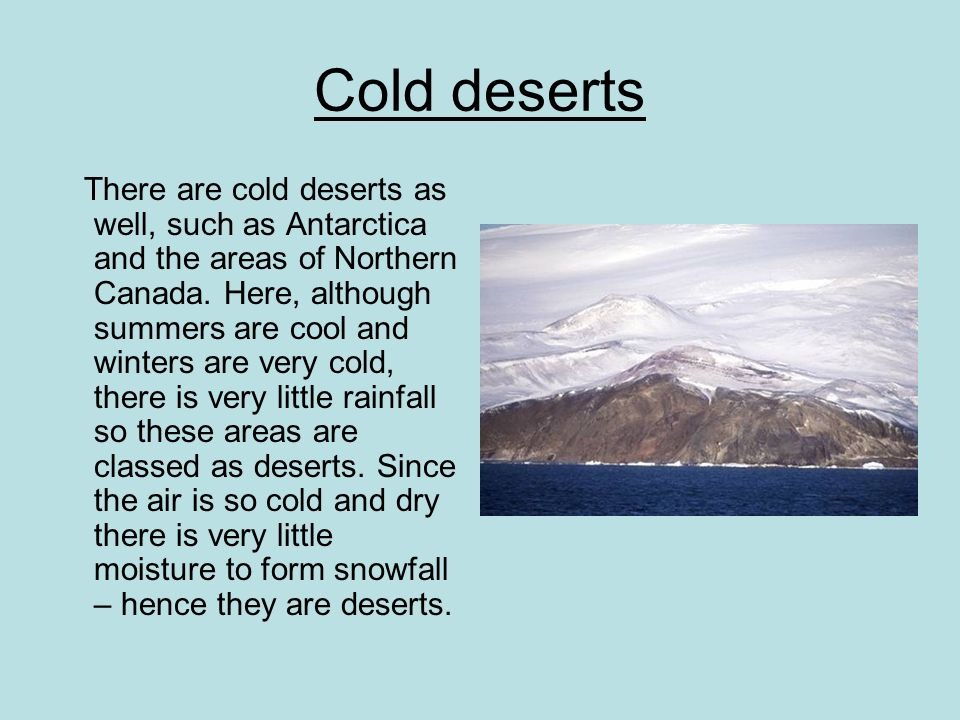 Cold deserts
