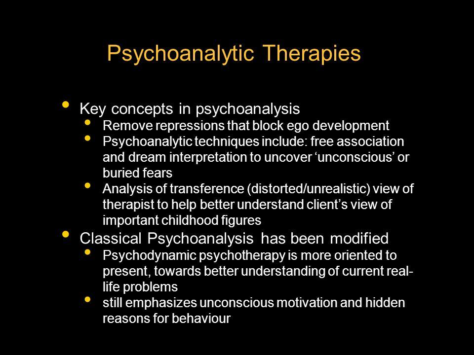 psychoanalysis key concepts