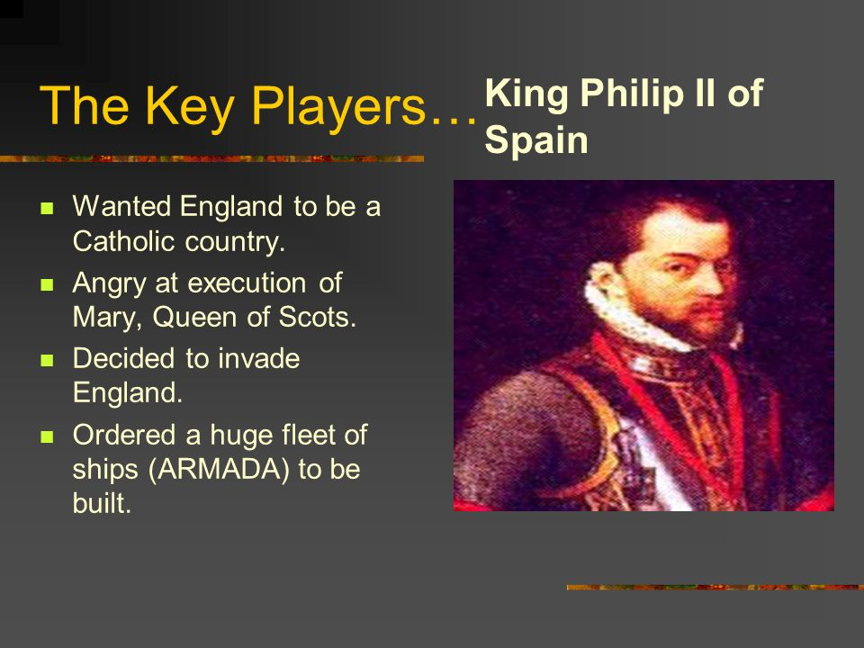 The Key Players… King Philip II of Spain