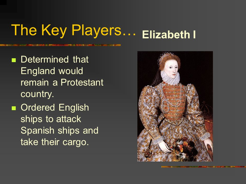 The Key Players… Elizabeth I