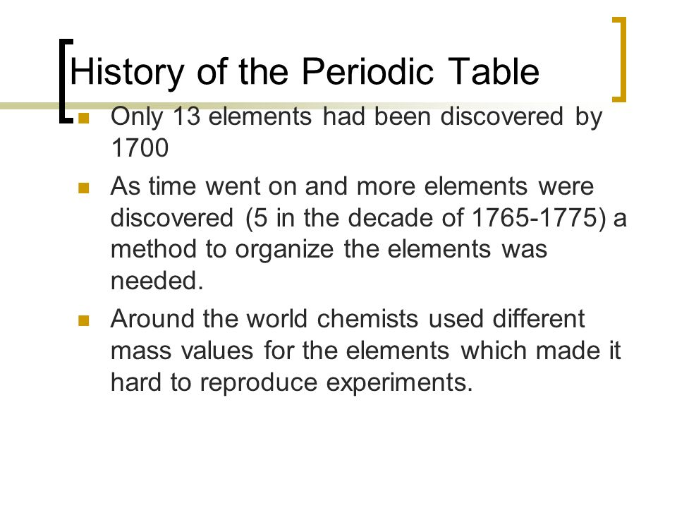 The periodic table ch ppt download history of the periodic table urtaz Images