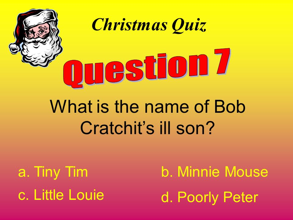 What is the name of Bob Cratchit's ill son