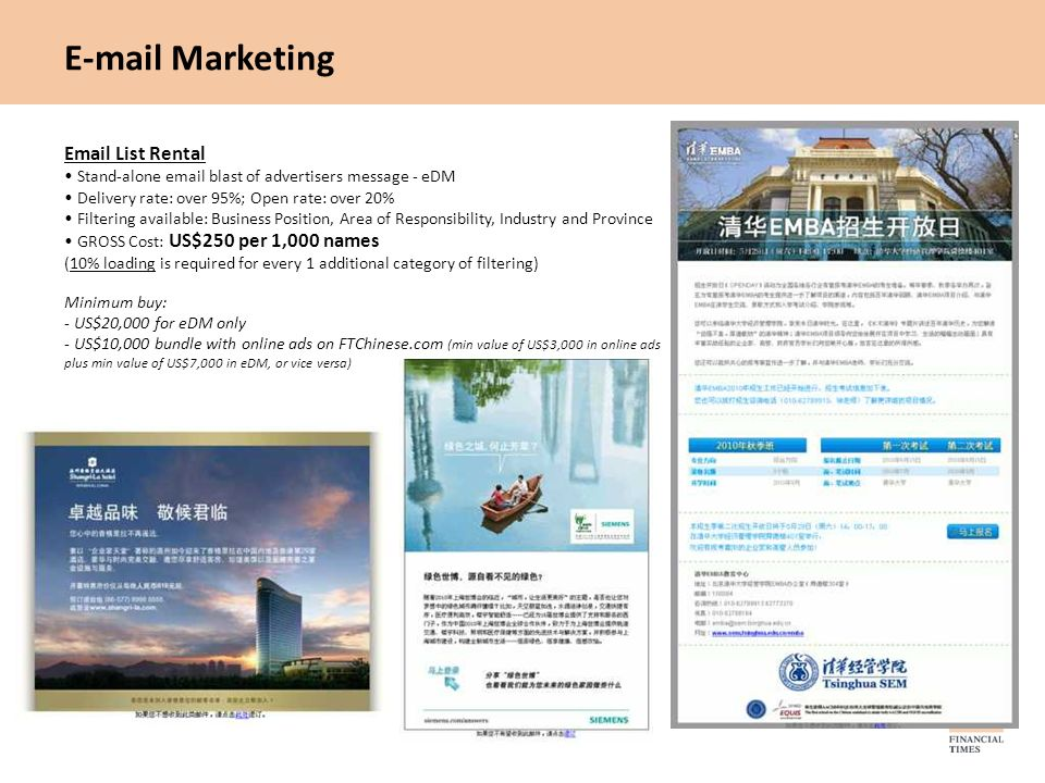 E-mail Marketing Email List Rental