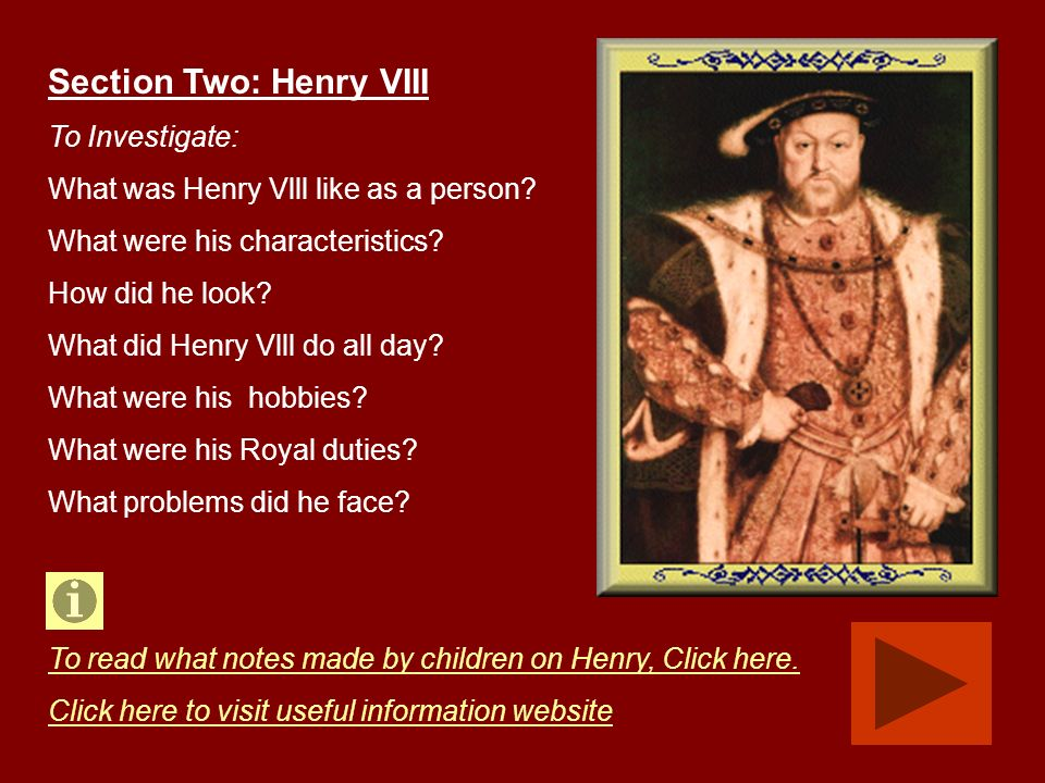 Section Two: Henry VIII