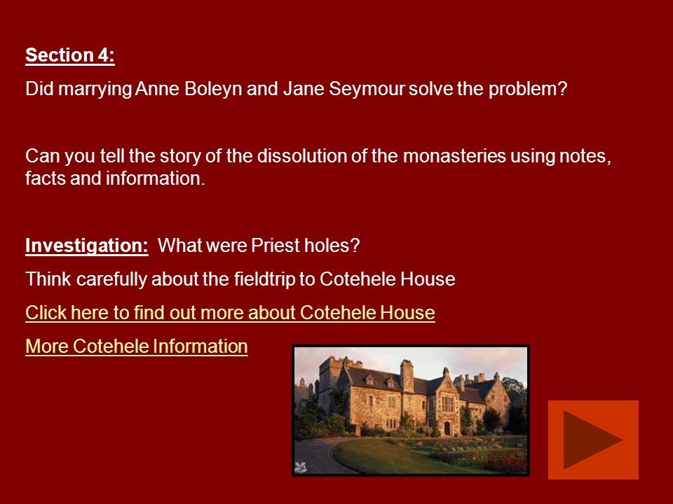 Section 4: Did marrying Anne Boleyn and Jane Seymour solve the problem