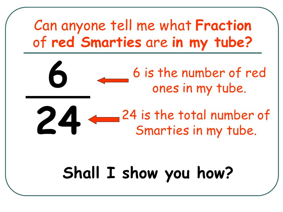 Can anyone tell me what Fraction of red Smarties are in my tube