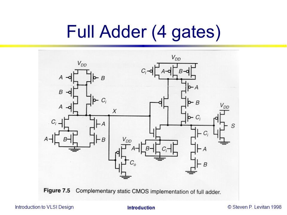 complementary cmos logic style construction  cont