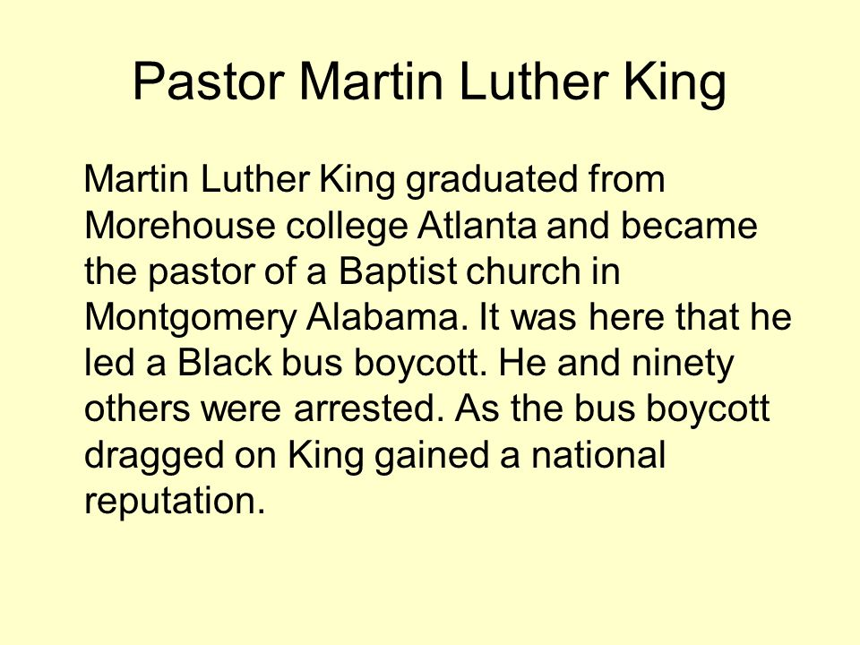 Pastor Martin Luther King