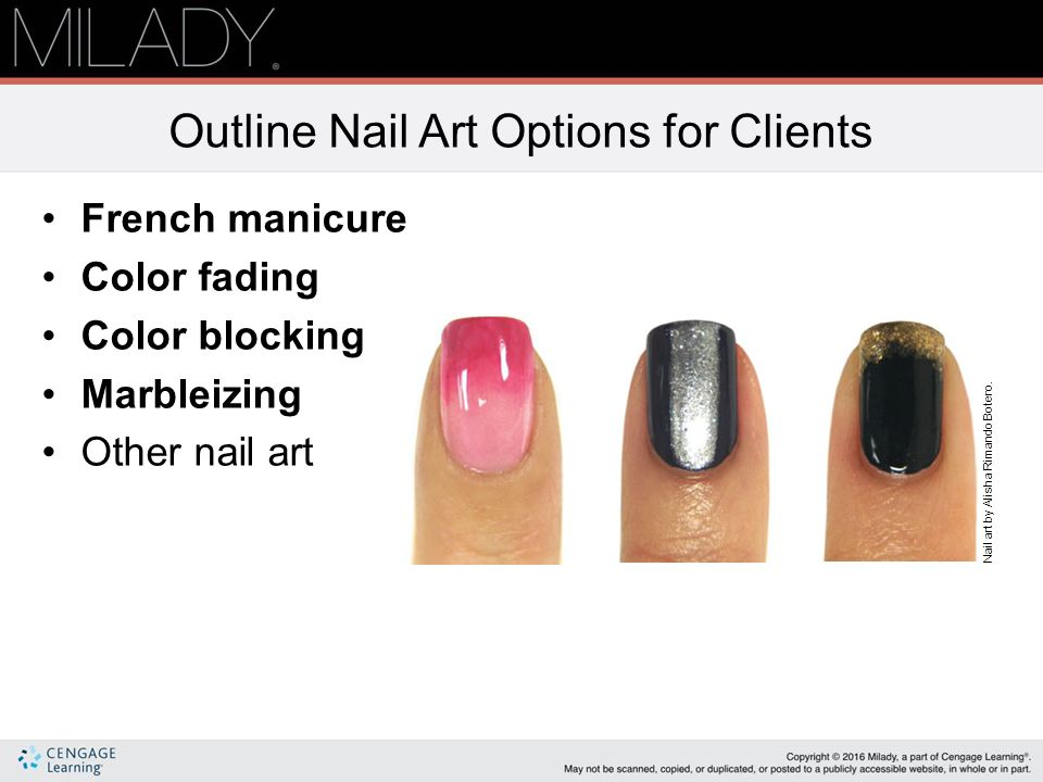 Outline Nail Art Options For Clients