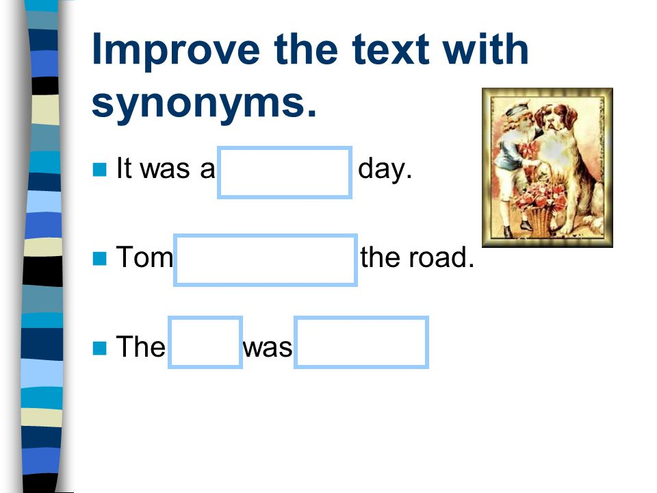 Improve the text with synonyms.
