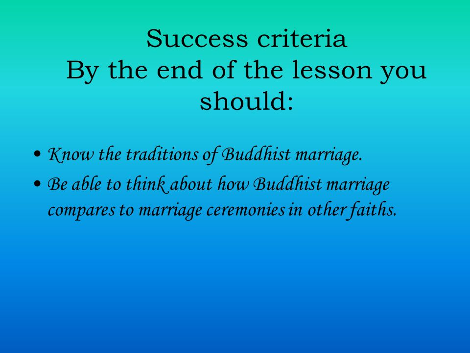 Success criteria By the end of the lesson you should: