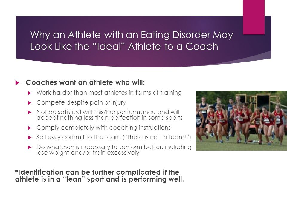 Eating Disorders and the Student-Athlete - ppt video online