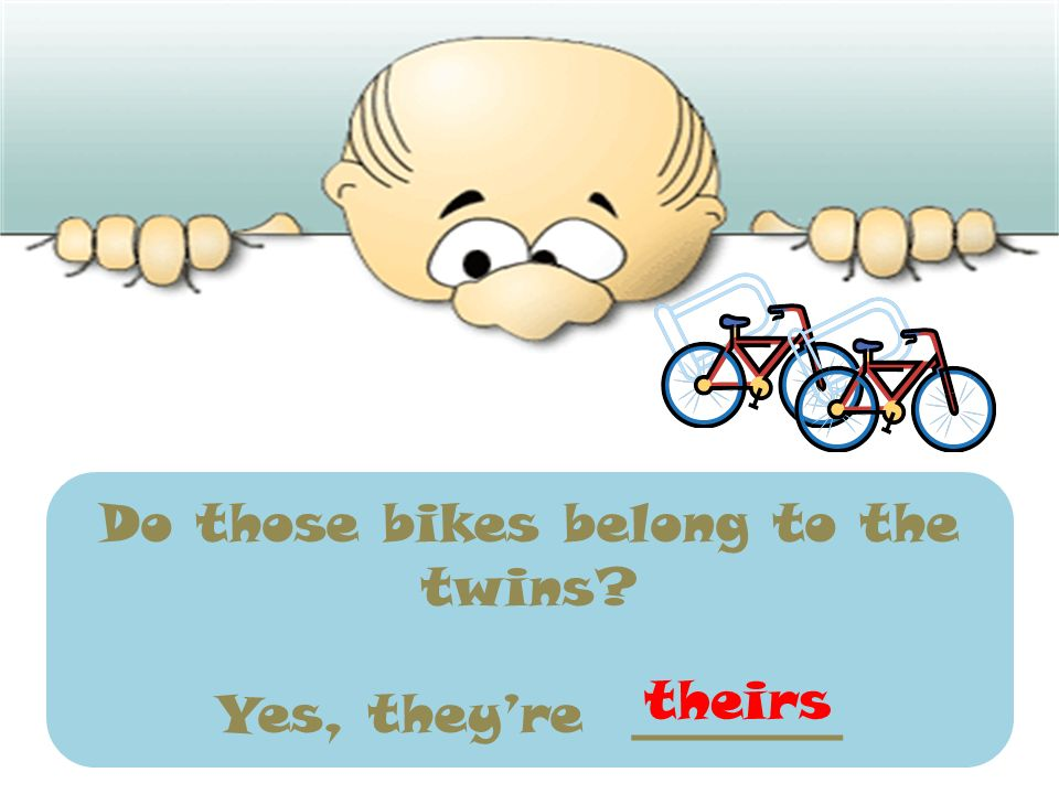 Do those bikes belong to the twins