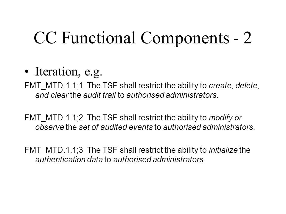 CC Functional Components - 2