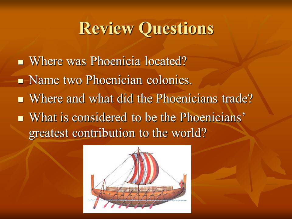 where are the phoenicians from