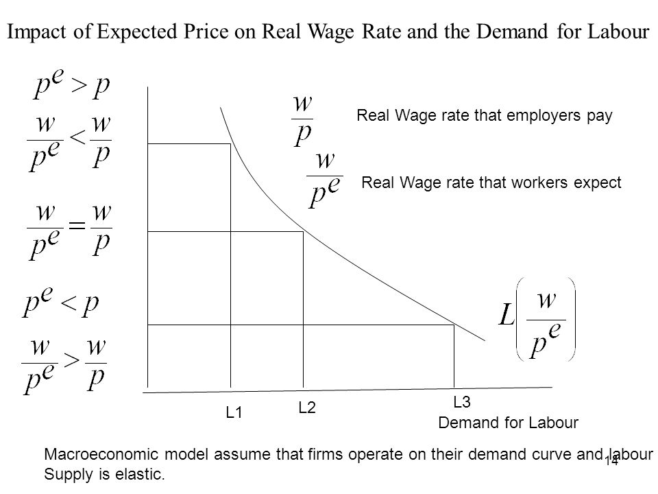 Impact of Expected Price on Real Wage Rate and the Demand for Labour