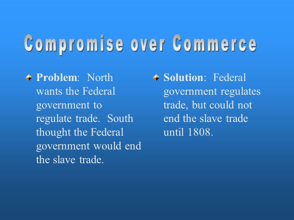 Compromise over Commerce
