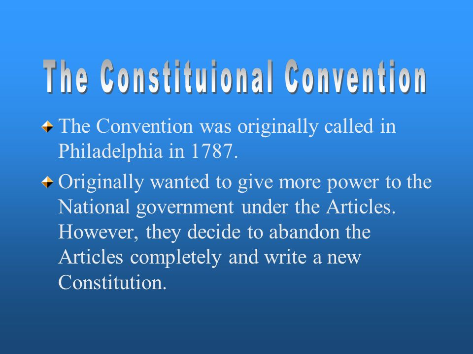 The Constituional Convention