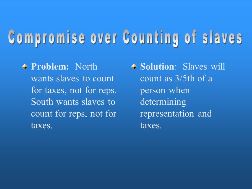 Compromise over Counting of slaves