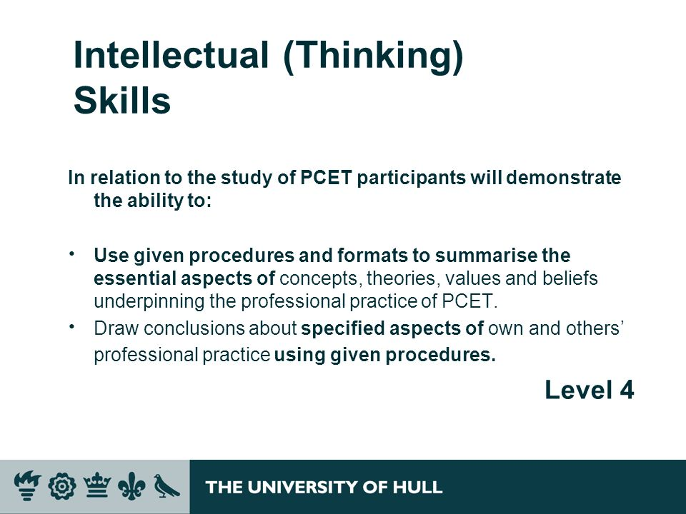 Intellectual (Thinking) Skills