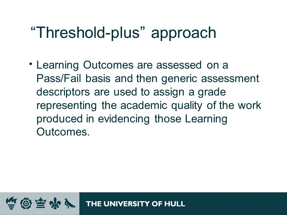 Threshold-plus approach