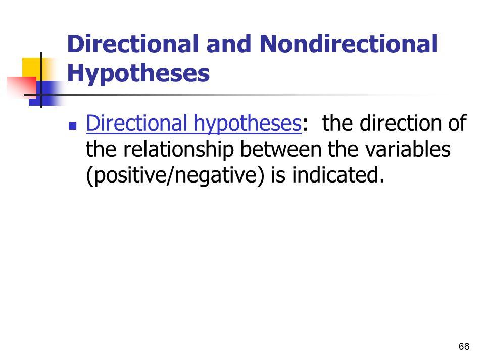 define non directional hypothesis