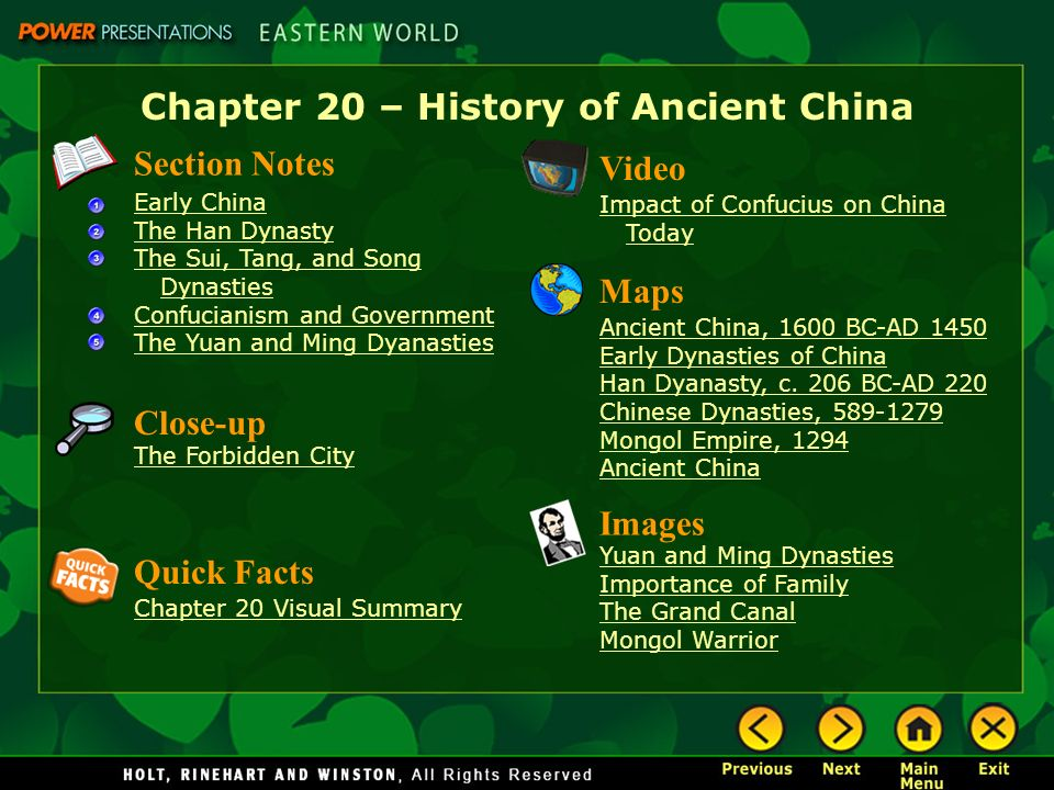Chapter 20 History Of Ancient China Ppt Download