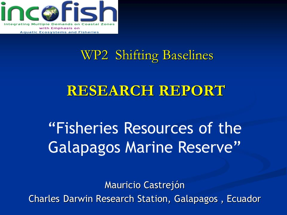 Fisheries Resources of the Galapagos Marine Reserve
