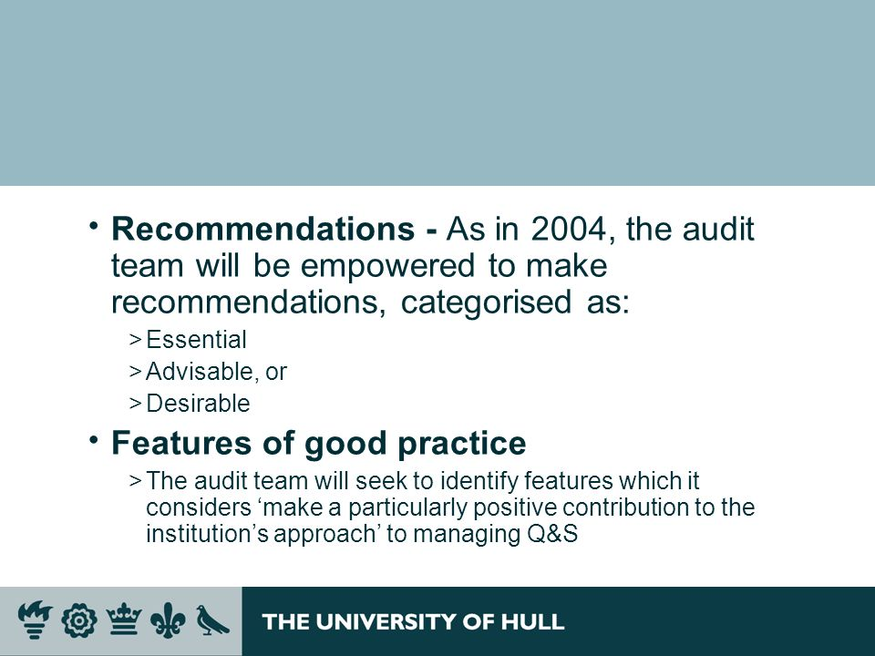 Features of good practice