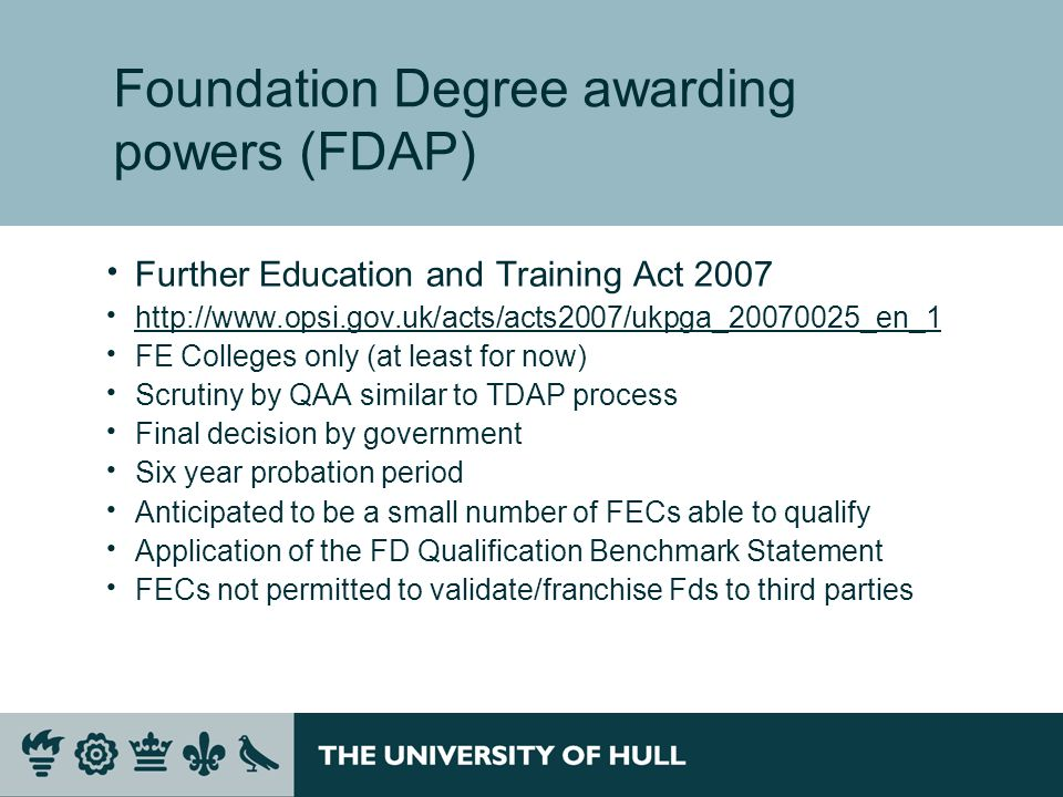 Foundation Degree awarding powers (FDAP)